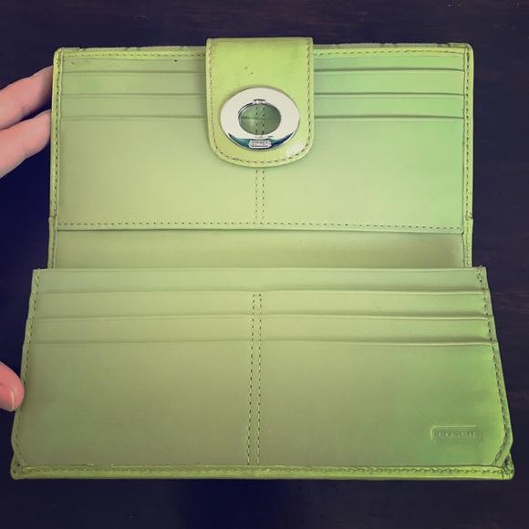 Coach Handbags - Lime Green Coach wallet!